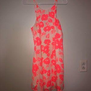 Mimi chica pink floral sun dress